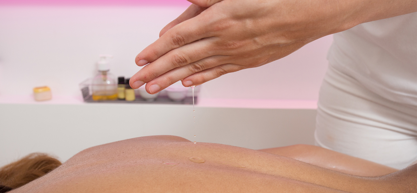 Massage with collagen removes cellulite